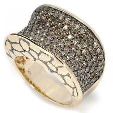 ShopNBC Soho Boutique Neda Behnam 14K Yellow Gold Chocolate Pave Diamond Ring