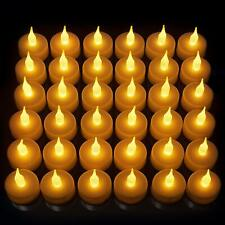 36 Pack LED Tea Light Candles, Gorgeous Flickering Flameless Candles, Super Long