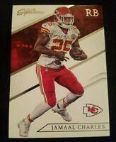 2016 Prime Signatures Football Card #22 Jamaal Charles Kansas City Chiefs