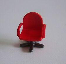 PLAYMOBIL (G1243) POMPIERS - Chaise de Bureau à Roulettes Caserne 3176
