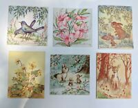 6 Vintage Greeting Cards Louise Howe Ewing Woodland Art Scrapbook Ephemera