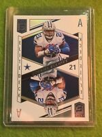 EZEKIEL ELLIOTT PRIZM REFRACTOR DALLAS COWBOYS CARD 2018 Elite Deck #ED-2 Ace SP