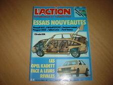action auto N°228 Essais nouveautés