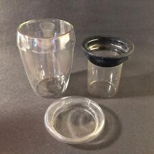 (b114) Doppelwandiger Becher Teetasse mit Teesieb Glas Set 13,5 cm