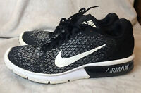 NIKE Women Air Max Sequent 2 Black/White Athletic Running Shoes Size 10.5