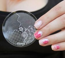 Nail Art Stamping Plates Image Plate Decoration Lace Rose Fishnet (hehe018)