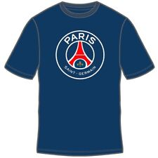 PARIS SAINT GERMAIN NAVY YOUTH T-SHIRT TEAM CREST/LOGO SIZES SMALL-XL OFFICIAL