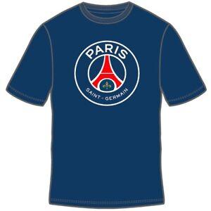 PARIS SAINT GERMAIN NAVY YOUTH T-SHIRT TEAM CREST/LOGO SIZES SMALL-XL OFFICIAL