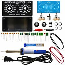 ELENCO K-38SLD Capacitor Substitution Box Soldering Kit with Iron and Solder