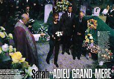 Coupure de Presse Clipping 1996 (6 pages) Sarah Biasini adieu Grand-mère