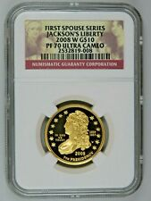 2008 W Jackson's Liberty First Spouse Gold $10 NGC PF70 Ultra Cameo