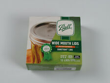 Ball Jars Wide Mouth Lids, 12 Count (Pack of 1) NEW Sealed Made in USA