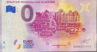 BILLET 0  EURO MINIATUR WUNDERLAND HAMBURG 13  ALLEMAGNE 2020  NUMERO DIVERS