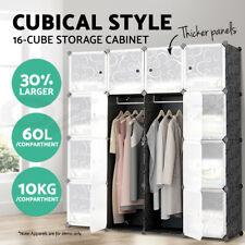 Cube Storage Cabinet DIY 16 Cubes Shoe Rack Wardrobe Shelves Shelf Compartment