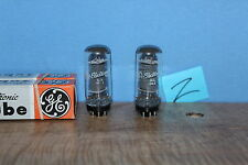 Radio Tubes 6V6GTA 6V6GT 6V6 GE Coin Base Matched MK Codes NOS PAIR