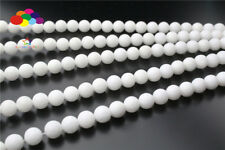 Diy 4/6/8/10/12mm Natural White porcelain Stone Round Beads fit Yoga bracelet