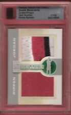MICHAEL JORDAN GAME USED SHORTS PATCH & SCOTTIE PIPPEN JERSEY card #d7/9 FABRICS