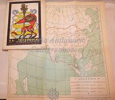 VIAGGI: IL MILIONE di Marco Polo 1929 Alpes Illustrato Tavole Mappa Oriente