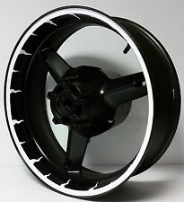 CUSTOM MOTORCYCLE RIM STRIPES WHEEL DECALS STICKERS TAPE GRAPHICS KIT WRAP SPIKE