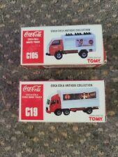2 Coca Cola Tomy Truck C105 C19 Vintage NIB matchbox hot wheels size