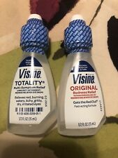 Visine Totality Multi Symptom Relief Lubricant Eye Drops & Visine Original 1/2oz