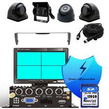 4CH GPS VGA 720P HD 128G SD Car DVR MDVR Video Recorder Realtime View 4* Cameras
