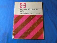 1972 BSA Rocket Replacement Parts List, 650, 750, Twins, Part # 00-5733, 5733 C