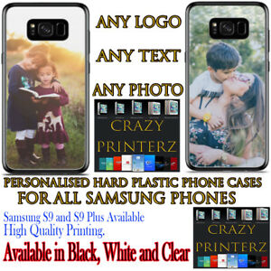 Personalised Custom Photo Print Hard Plastic Case Protection For Samsung Phones