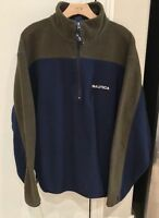 VINTAGE Nautica Pullover Half Zip Fleece Colorblock Mens Size Medium