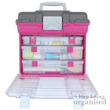 Creative Options Large Grab N Go Rack System With 3 Organisers Magenta
