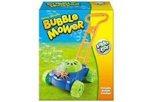 Kids Bubble Blowing Lawn Mower Children Outdoor Garden Toy Playset Activity