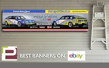 ROVER SD1 V8-S Touring Car Banner for Workshop, Garage, 2000mm x 500mm