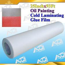 "Oil Painting 0.69x31Yard(93Ftx25"")Adhesive Glue Cold Laminating Photo Protector"