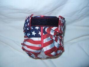 Female Dog Puppy Pet Diaper Washable Pants Sanitary Underwear Patriotic XXS