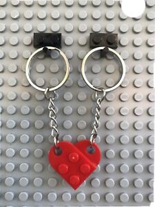 LEGO Red Novelty Keyring Key Chain Love Heart Present For a Lego Fan Part 3176