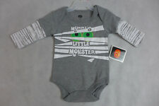 Baby Halloween One Piece Creeper Long Sleeve Mummy's Little Monster 0-3M  New