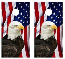 Patriotic Eagle American Flag Cornhole Board Wraps w/FREE SQUEEGEE #1183