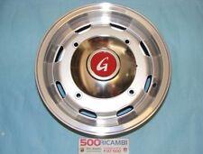 FIAT 500 F/L/R 4 CERCHI IN LEGA 4,5x12 SILVER BORDO CROMATO 4X190 COPPE GIANNINI