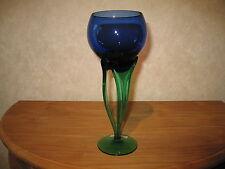 *NEW* Bougeoir Photophore vert/bleu H.27cm Candlestick tealight
