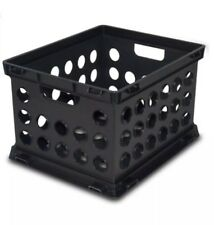 Sterilite Large File Crate Black, Single Unit for Organization, Storage; Plastic