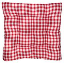 Coussin Galette Dessus de chaise Vichy Rouge 40x40cm
