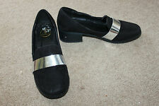 Ladies Black Shoes Size 4 Eur 37 Shiny Band Detail Heels by M