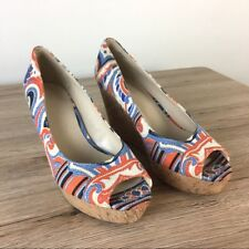 Nine West colorful wedge sandal Woman Shoes