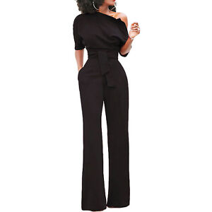 Overall Woman Entire Jumpsuit Trousers Palace Elegant Suit New DL-2202