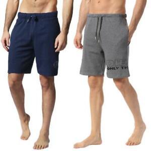 Diesel UMILB PAN Mens Shorts Training Running Casual Fleece Printed Summer Short