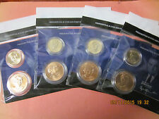 4 X 2015 Presidential One Dollar Coin & First Spouse Medal Sets - Full Set