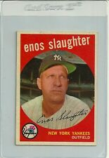 1959 Topps Baseball #155 Enos Slaughter Yankees Ex/Mt sharp
