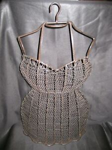 Vintage Antique Hanging Dress Wire Form Mannequin Female Bust/Torso Dressmaking