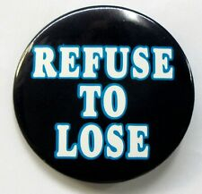 "1995 Seattle Mariners REFUSE TO LOSE 3"" baseball pinback button"