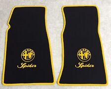Autoteppich Fußmatten für Alfa Romeo Spider Fastback 1969-1983 gelb Neu 2teilig